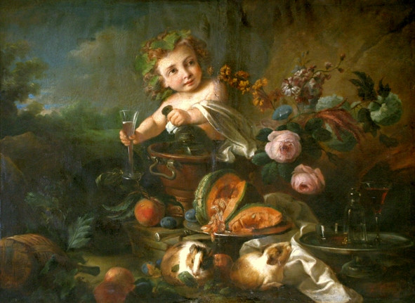 Young Bacchus and a Still Life (with Guinea Pigs)
