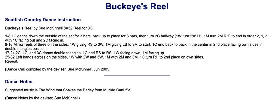 Buckeye's Reel