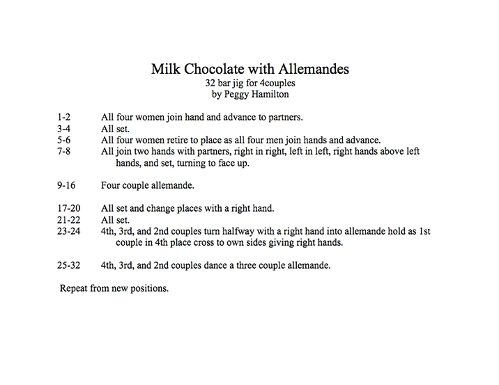 Milk Chocolate with Allemandes
