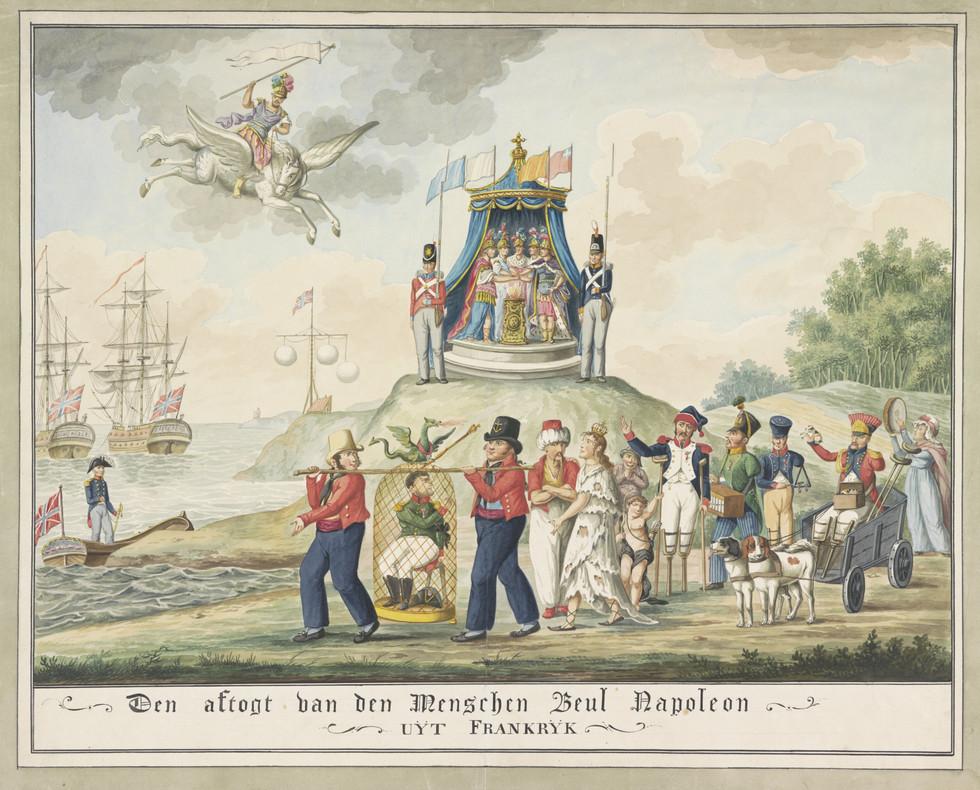 Napoleon's Exile Near Elba