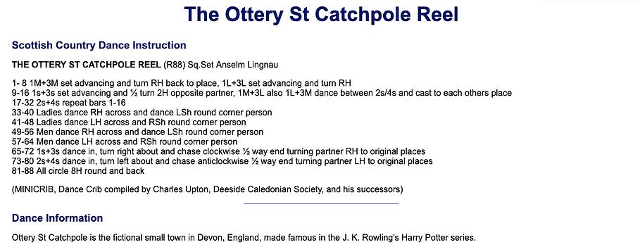 Ottery St. Catchpole Reel