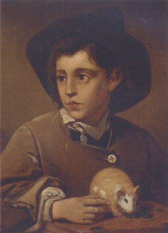 A Young Boy with a Guinea Pig (Seated)