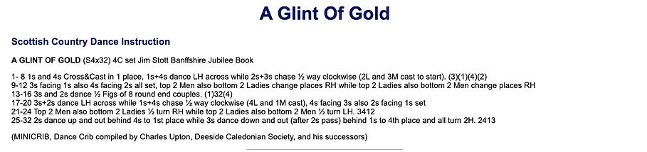 A Glint of Gold