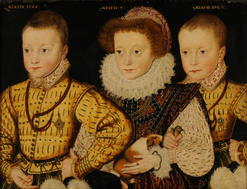 Elizabethan Children with Guinea Pig