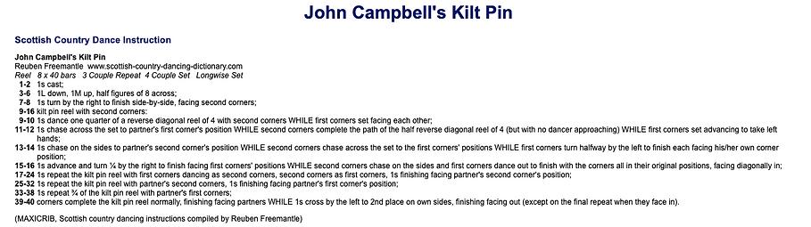 John Campbell's Kilt Pin