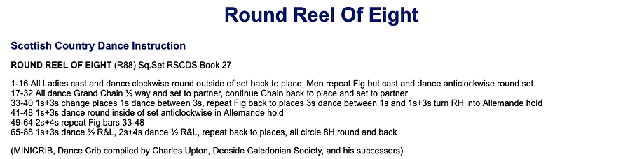 Round Reel of Eight