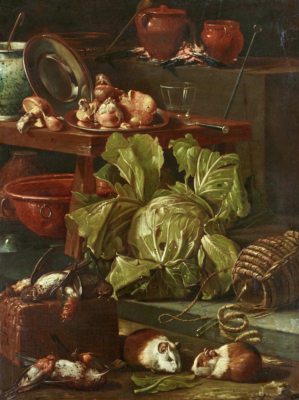 Kitchen Still Life with Vegetables and Poultry