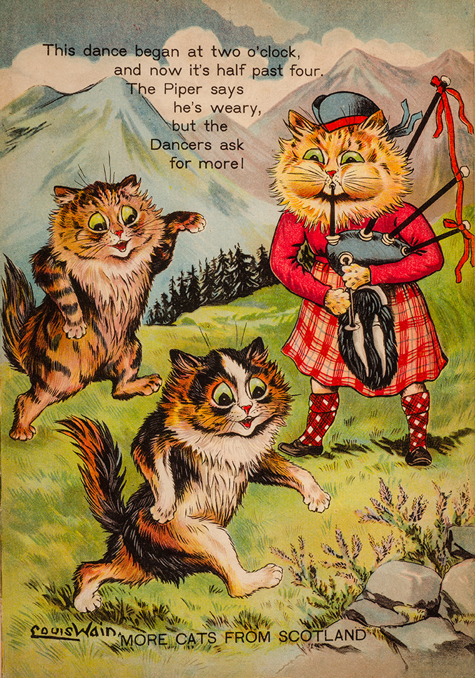 "1912 Cats of Many Lands by Louis Wain, Father Tuck's ""Wonderland"" Series, published by Raphael Tuck & Sons"