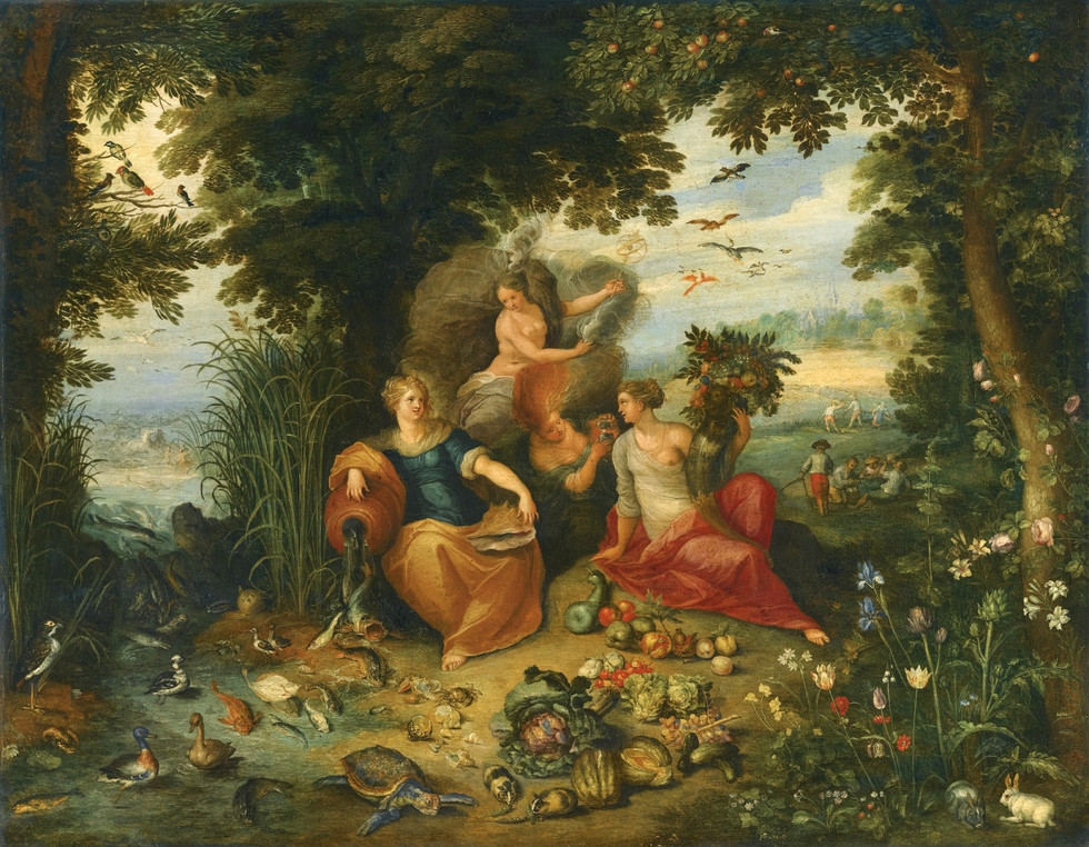 An Allegory of Water and Earth (variation)