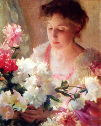 Peonies and Rose, Charles Courteney Curran, 1903