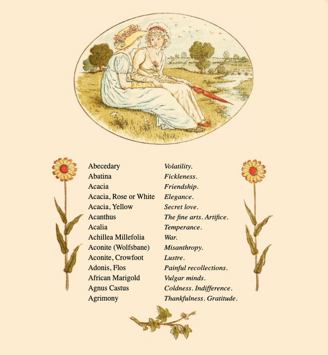 Kate Greenway's Language of Flowers