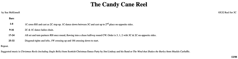 The Candy Cane Reel