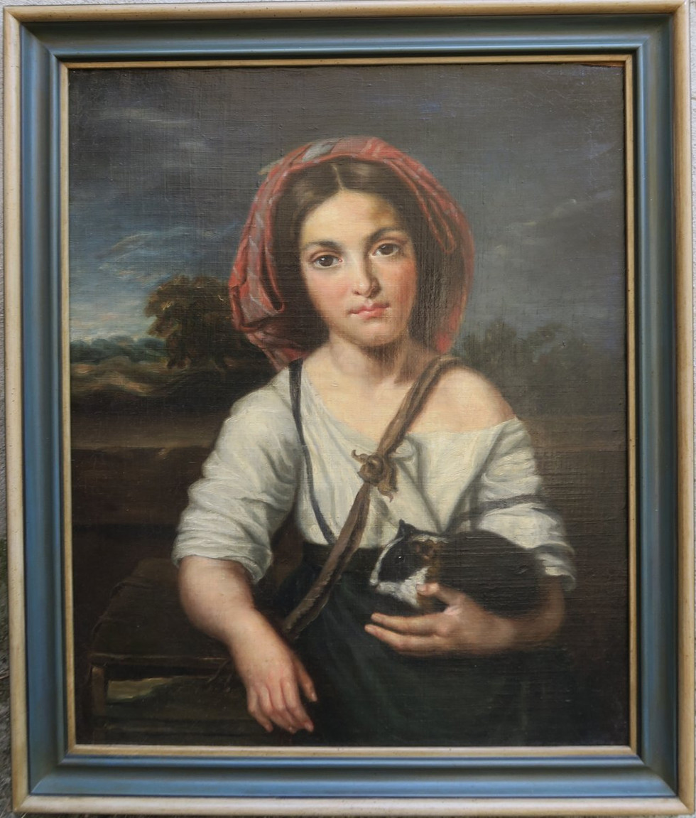 Portrait of a Young Italian Woman with Guinea Pig