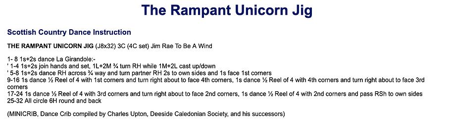 The Rampant Unicorn Jig