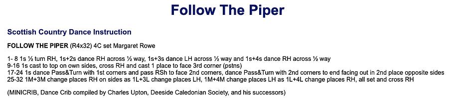 Follow the Piper
