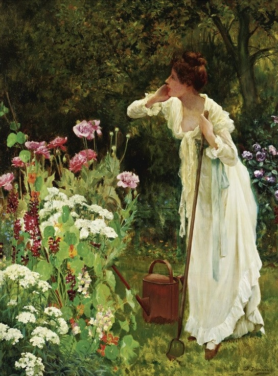 """In the Fullness of Summer"", Delapoer Downing (1853-1926)"