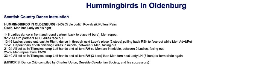 Hummingbirds in Oldenburg