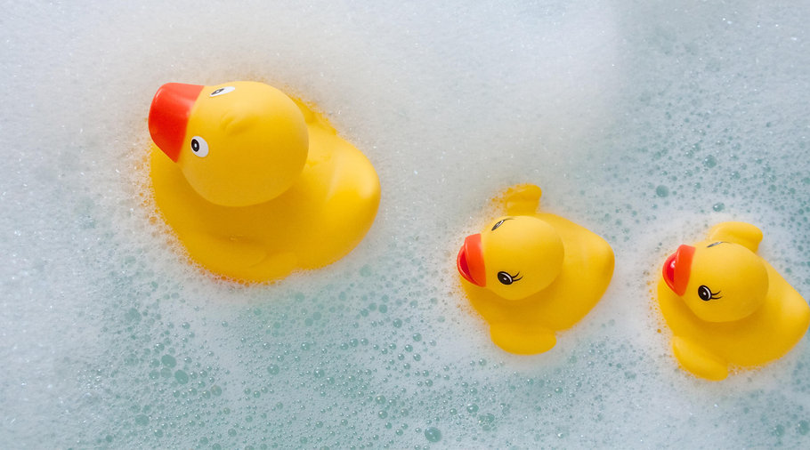 Duckies in the Bath