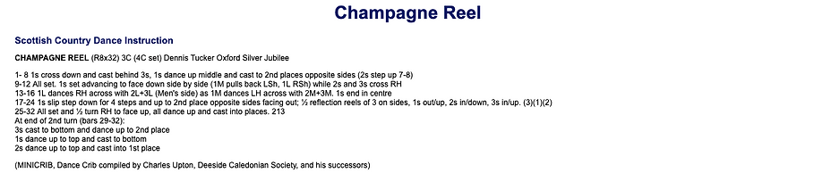 Champagne Reel