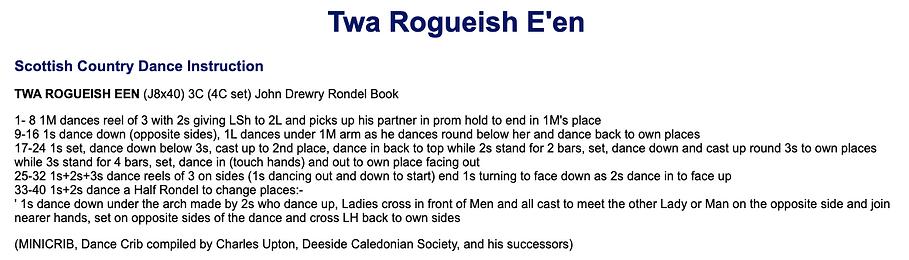 Twa Rogueish E'en