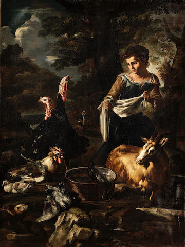 Washerwoman, Goat, and Guinea Pig