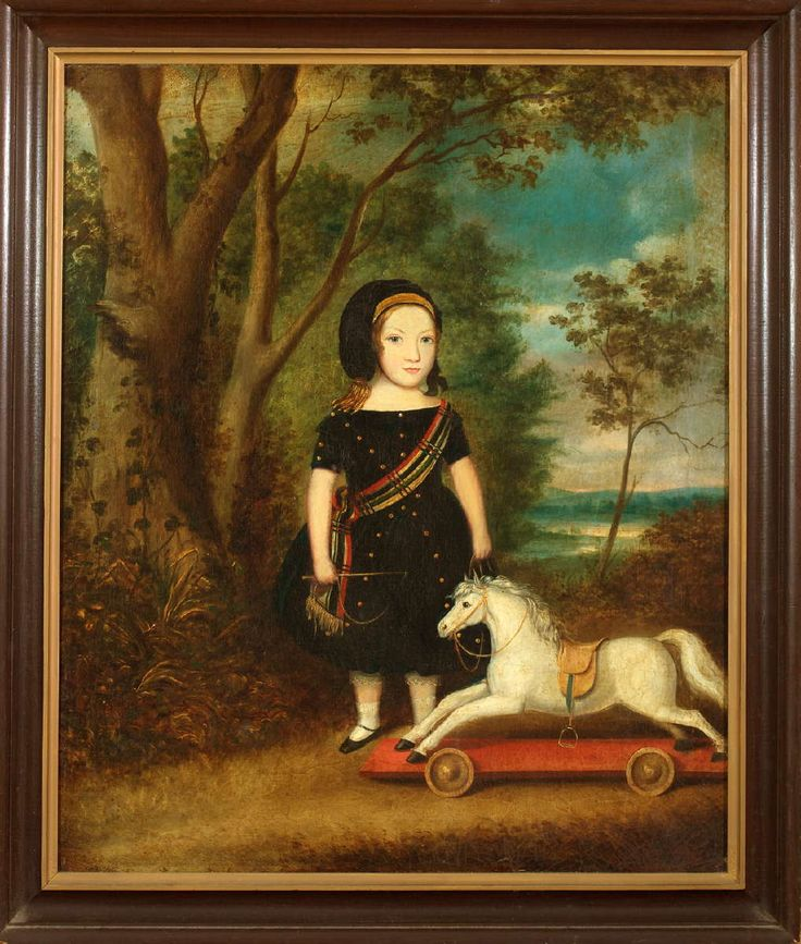 Child with Tartan Sash and Hobby Horse
