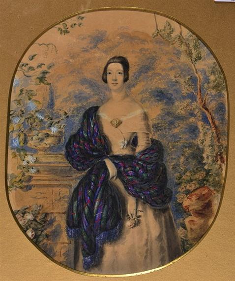 Lady with Purple Shawl