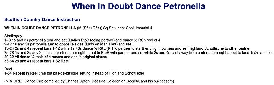 When in Doubt, Dance Petronella