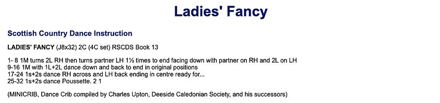 Ladies' Fancy