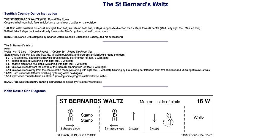 The St Bernard's Waltz