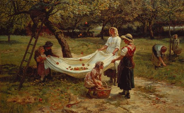 "Frederick Morgan, 1880, ""Apple Gatherers"""