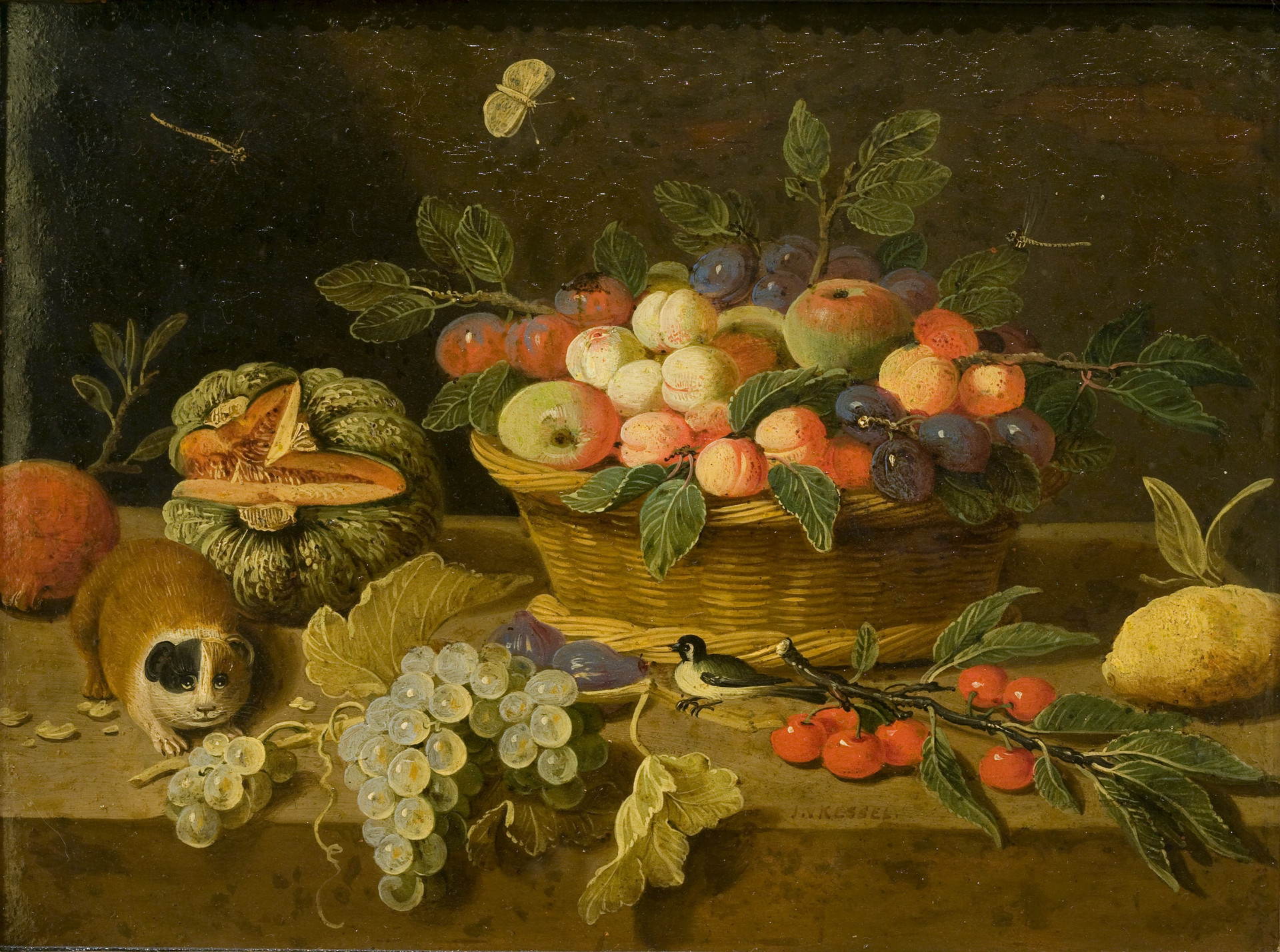 Still Life with Fruit and Guinea Pig