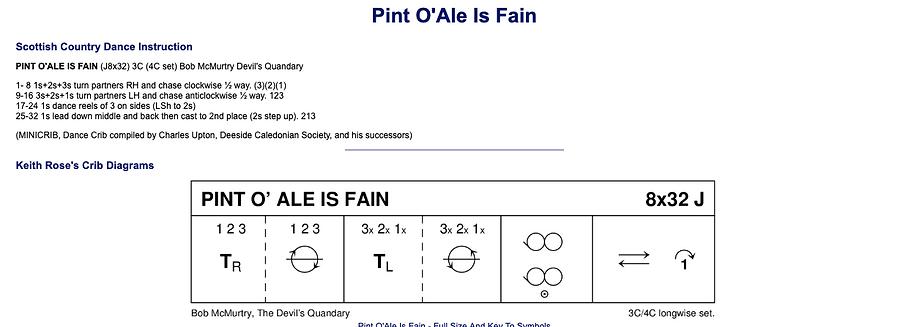 Pint O' Ale is Fain