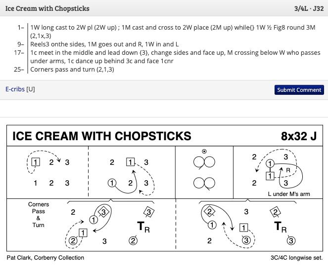 Ice Cream with Chopsticks