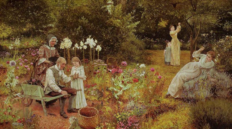 """A Golden Swarm"" by Edward Killingsworth Johnson (1877)"
