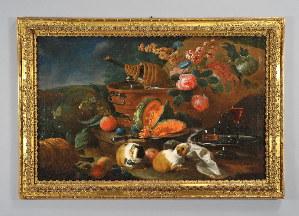 Still Life with Fruit and Guinea Pigs