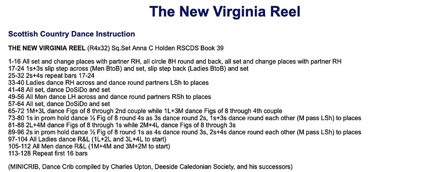 New Virginia Reel