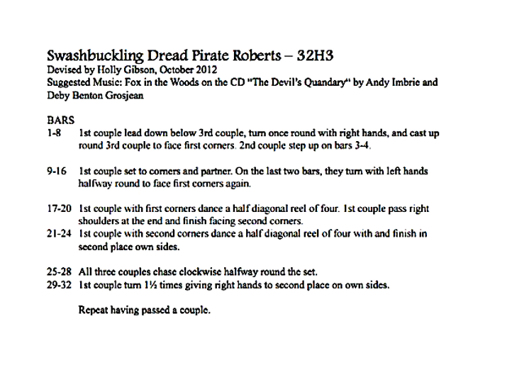Swashbuckling Dread Pirate Roberts