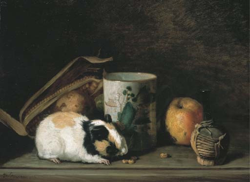 Guinea Pig, Apple and Cup