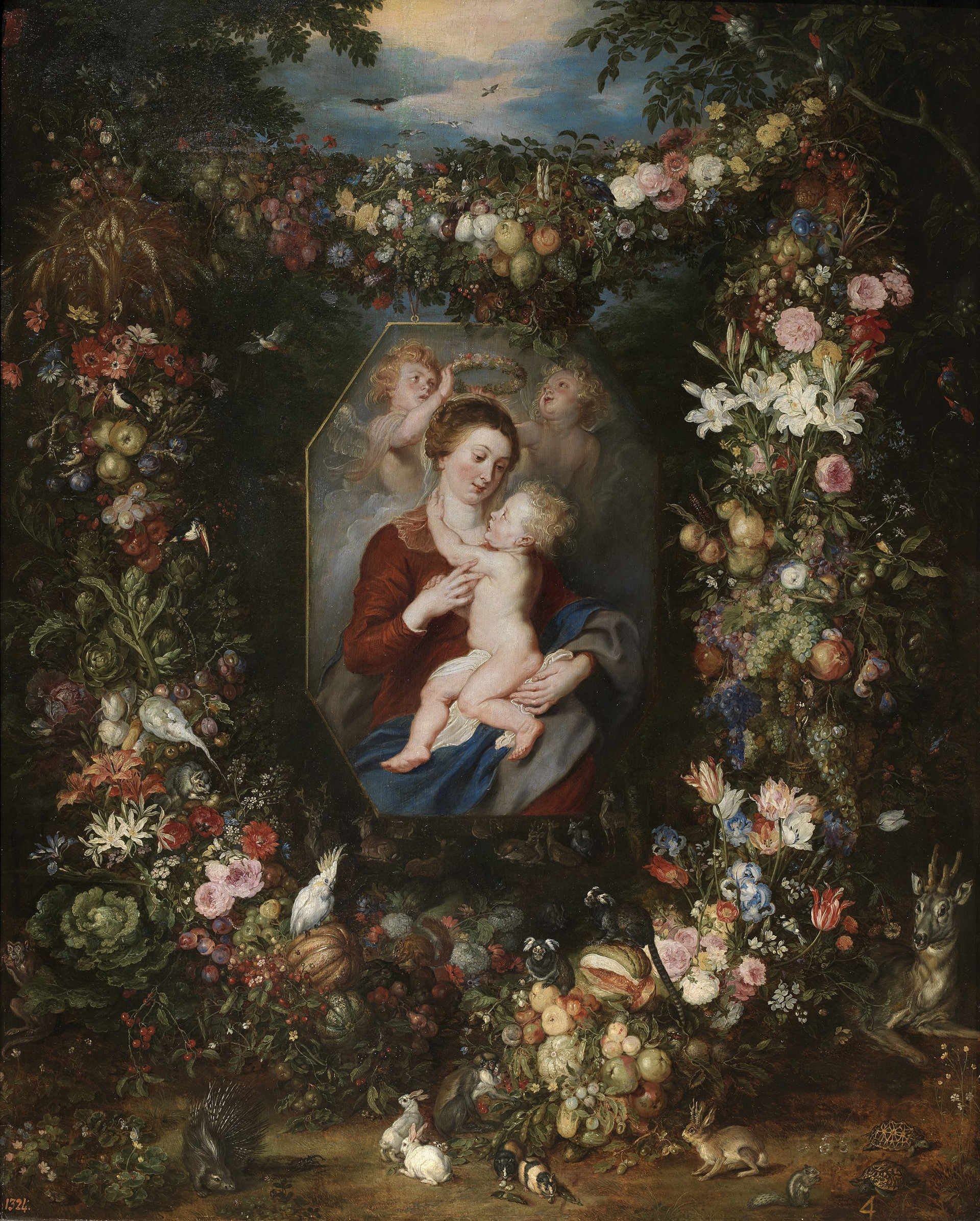 Virgin and Child Surrounded by Fruit and Flowers