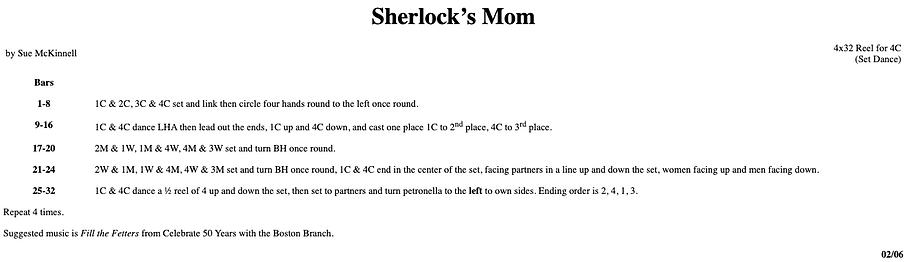 Sherlock's Mom