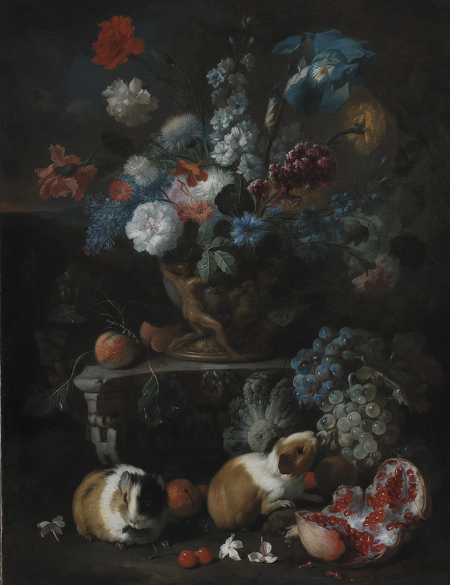 Flower Piece with Guinea Pigs and Pomegranate