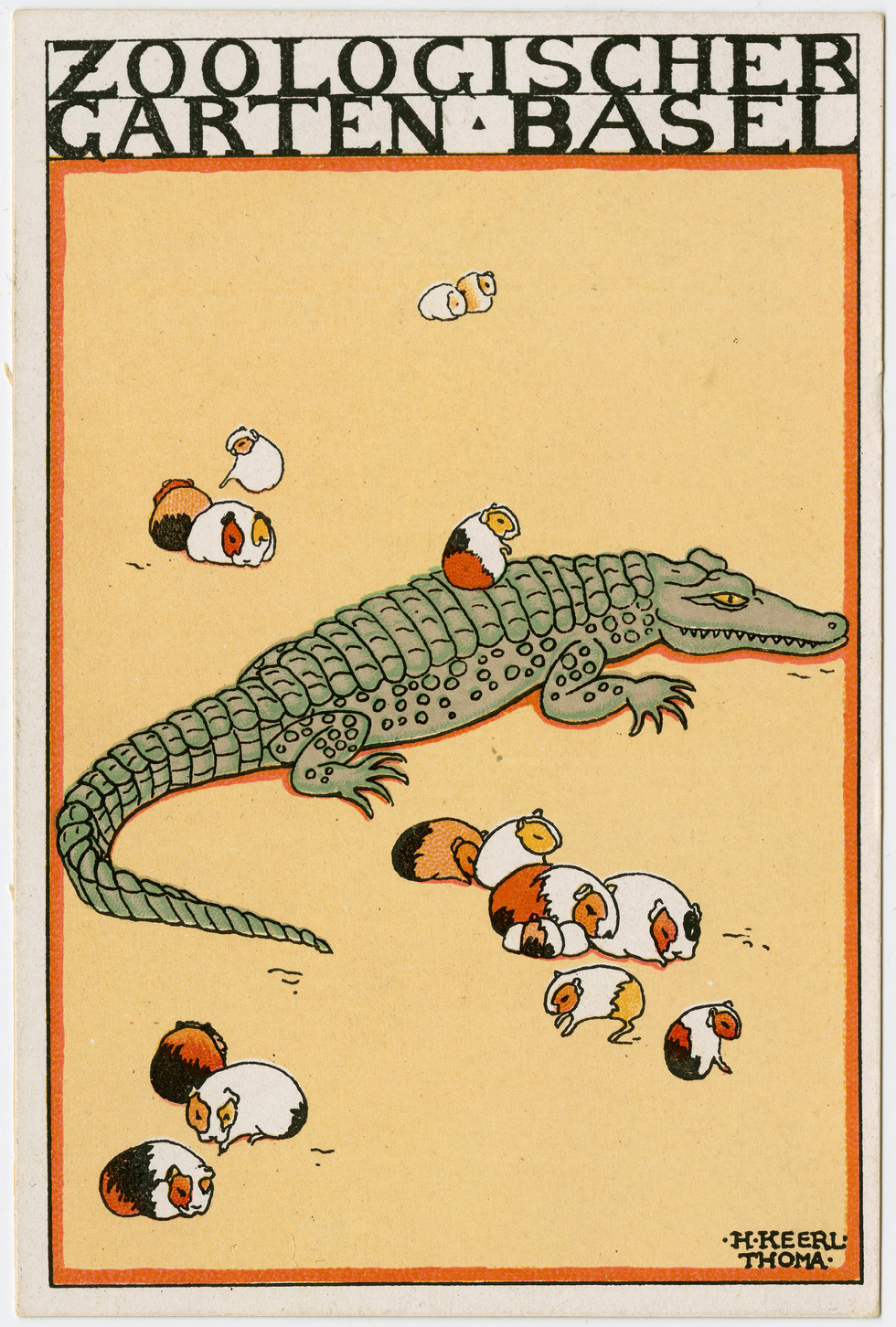 From the series Basel Zoological garden Hedwig Keerl Thoma (Swiss, 1886–1946), vintage postcard 1922