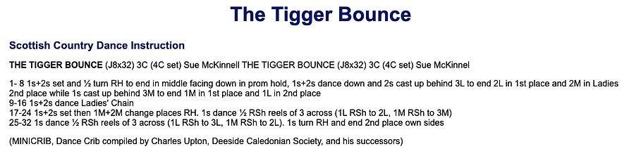 The Tigger Bounce