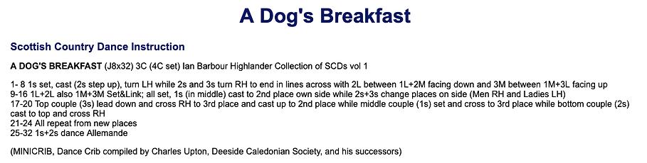 A Dog's Breakfast