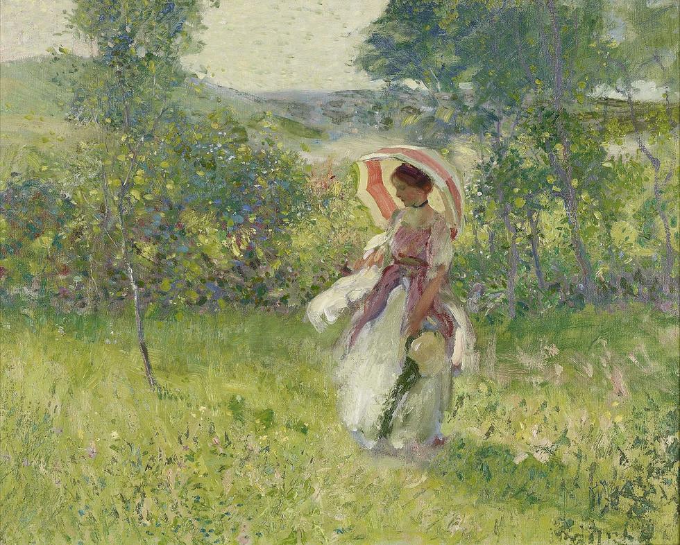 """The Parasol"" by Richard E. Miller (1875 - 1943)"