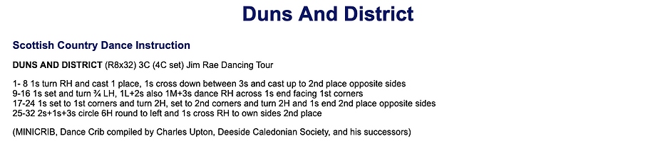 Duns and District