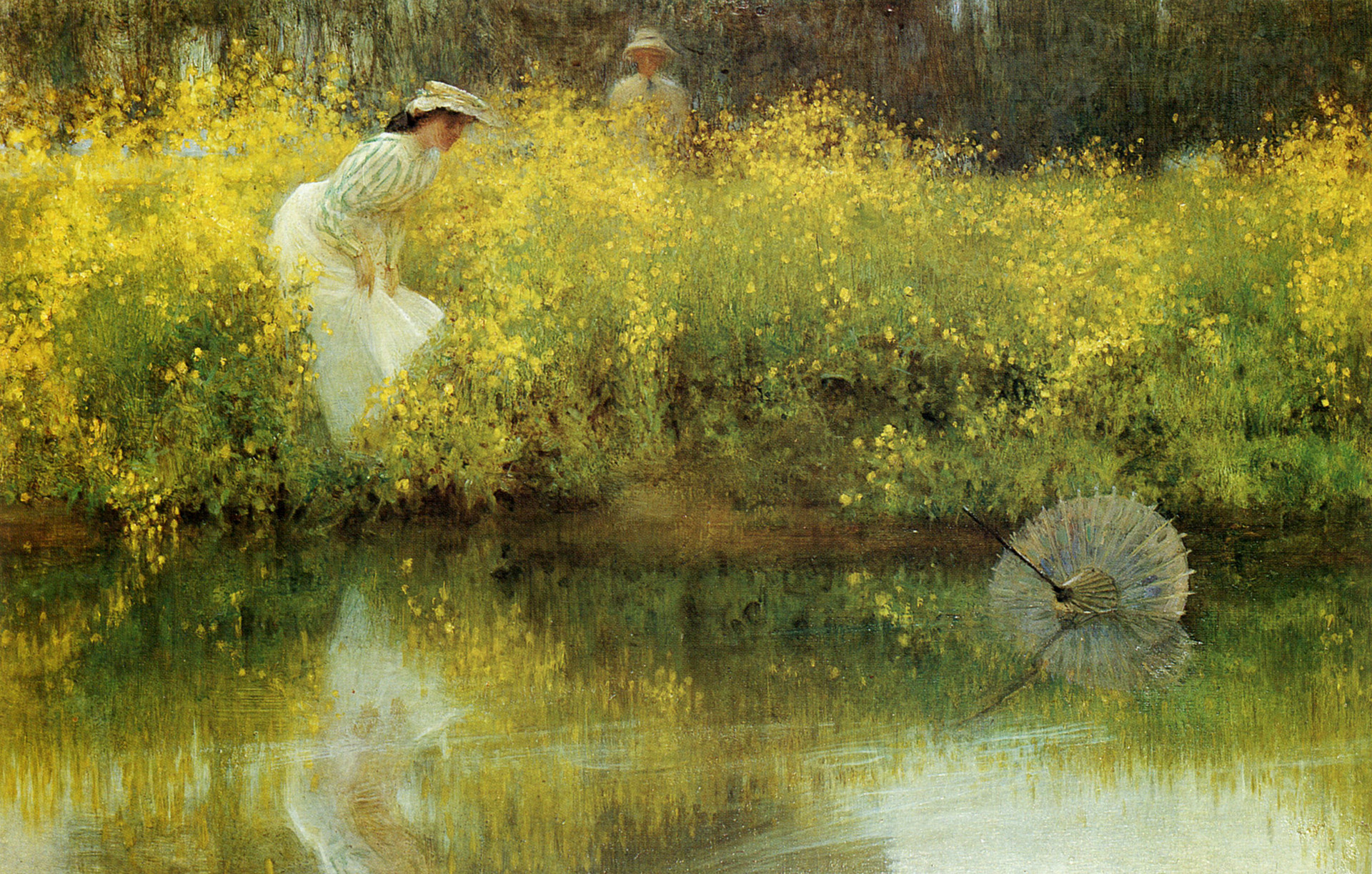 """""""Summer afternoon - summer afternoon; to me those have always been the two most beautiful words in the English language."""" - Henry James (1843-1916) In Jeopardy, 1902 by Arthur Hacker (1858-1919)"""