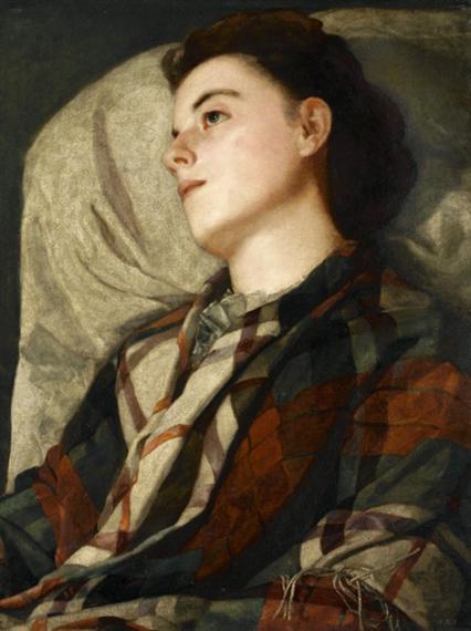 Woman in a Plaid Shawl
