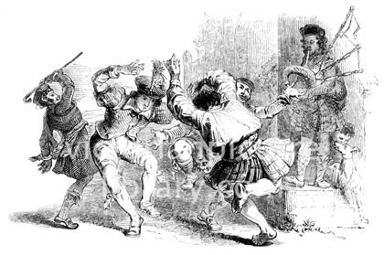 Scotsmen Dance a Reel, 18th century